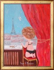 Купить Заказать копию картины Гапчинской Утро в Париже