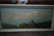 Картина Арарат Церковь Гаянэ 2000 г. 30х70