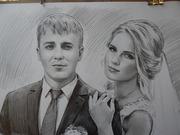 Портрет нарисовать на заказ по фото  карандаш